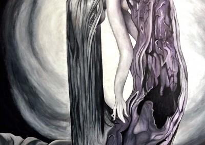 Martinemoniemounie_acrylique sur toile de lin 100x73_Renaissance de l'arbre_2016