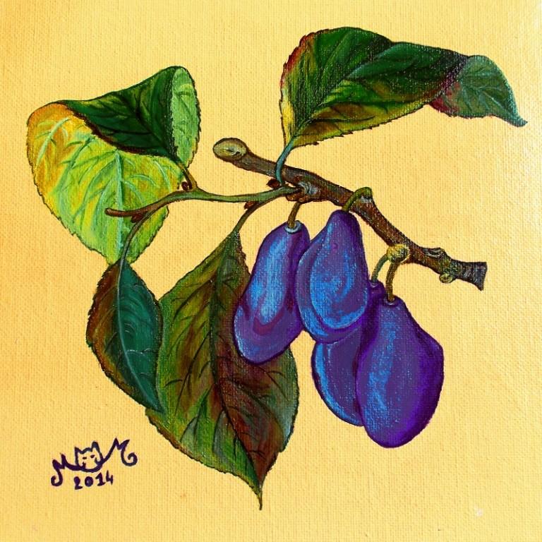martinemoniemounie_peinture acrylique 28_fruits_2014