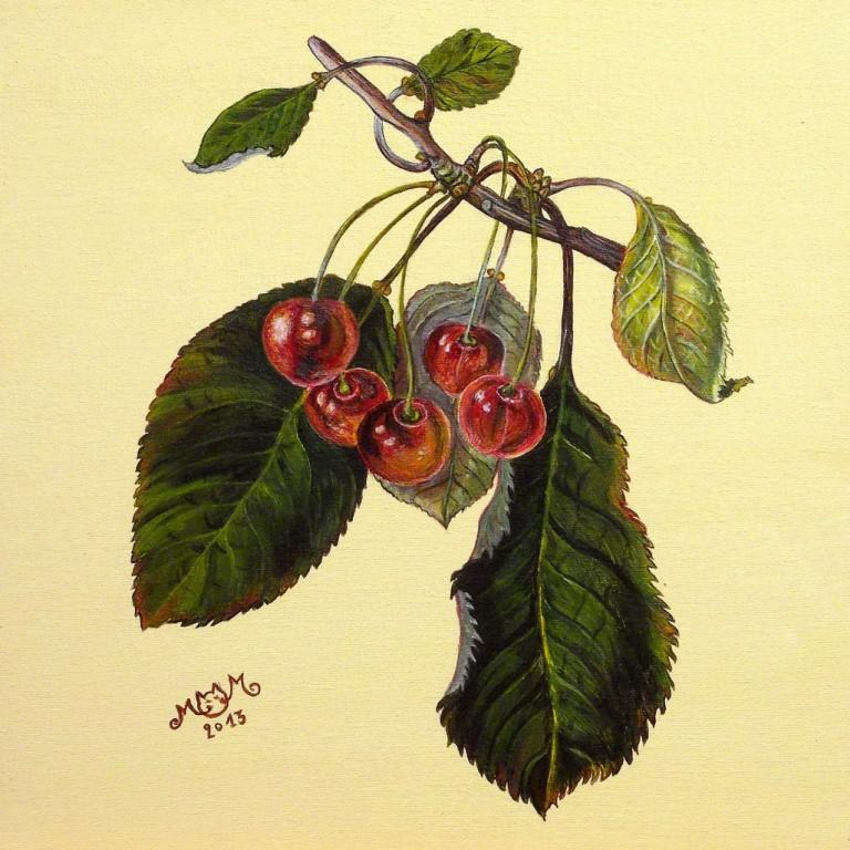 martinemoniemounie_peinture-acrylique-31_fruits-cerises_2013