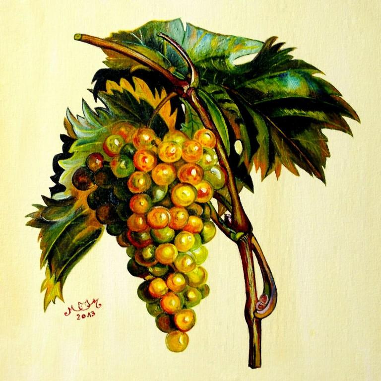 martinemoniemounie_peinture-acrylique-33_fruits-raisins_2013