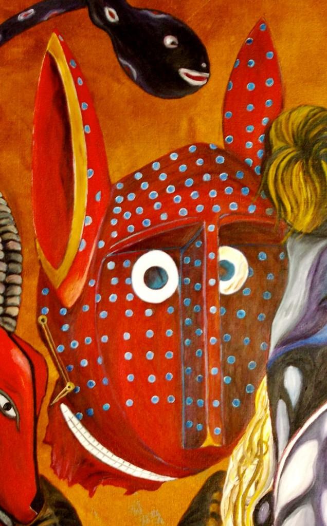 martinemoniemounie_peinture-acrylique-_02_Masque-bozo_détail-04