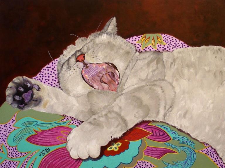 martinemoniemounie_peinture-acrylique-_46x61-toile de lin_Tendresse_2012