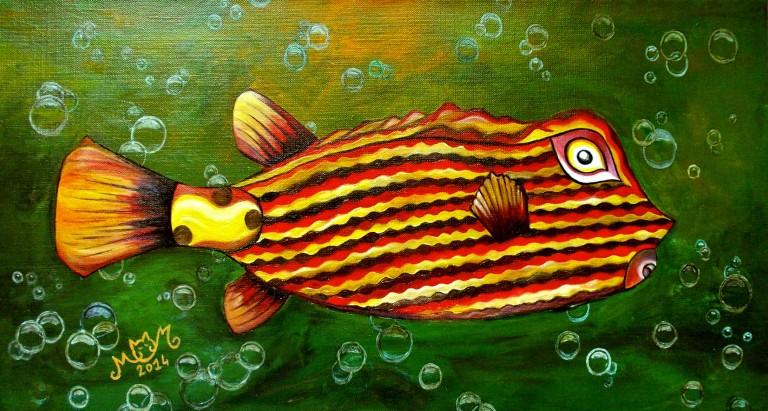 martinemoniemounie_peinture-acrylique-_11_Poisson-Bozo