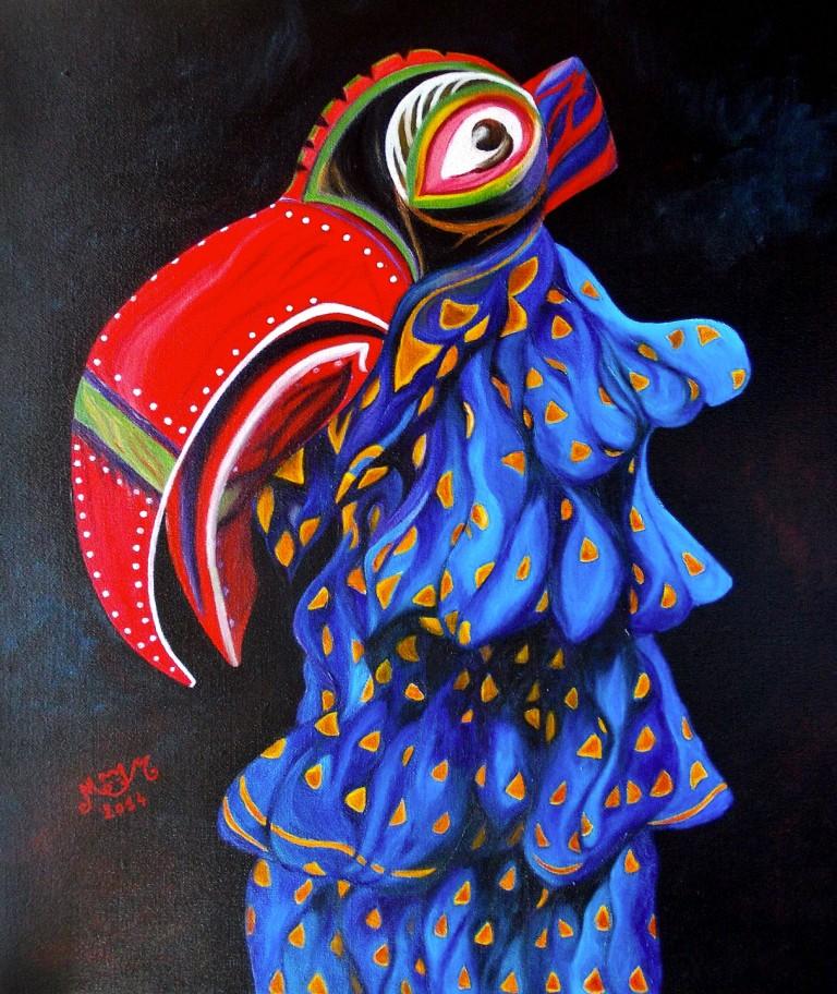 martinemoniemounie_peinture-acrylique-_12_Oiseau-Boso