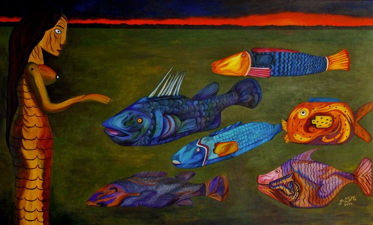 martinemoniemounie_peinture-acrylique-_13_les-poissons-bozos-et-Faaro