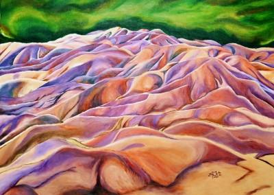 martinemoniemounie_peinture acrylique sur toile de lin_Chamarel Terre des 7 couleurs_H54 L73_2017 (800x591)