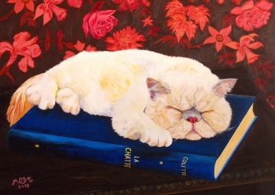 martinemoniemounie_peinture acrylique _04_presse papier_hommage à Colette (800x668)