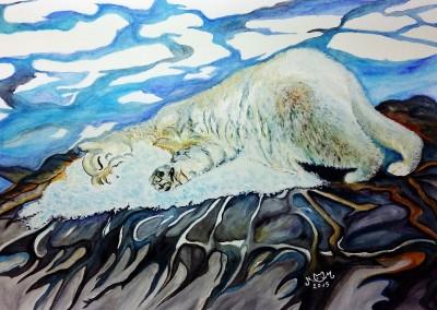martinemoniemounie_peinture aquarelle _10_Ours polaire _réchauffement climatique (800x578)