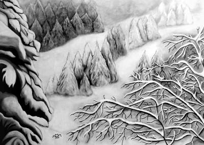 martinemoniemounie_peinture acrylique_14_P25_Paysage de neige_2018