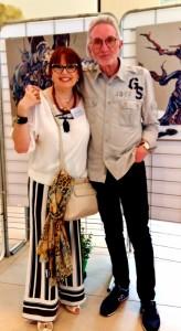 Martine et le peintre Bernard Montagnana à l'expo Arga 2018