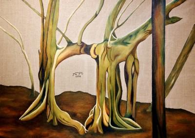 23_martinemoniemounie_peinture acrylique sur toile de lin_54x73_L'arbre dinosaure_2018_ (650x800)