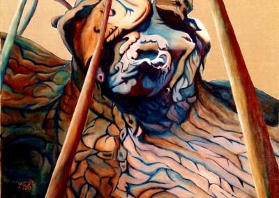 25_martinemoniemounie_peinture acrylique sur toile de lin_F20_L'arbre gorille_2019_blog