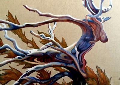 26_martinemoniemounie_peinture acrylique sur toile de lin écru_P20_Envolée d'automne_2019_blog