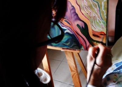 30A_Martine monie Mounie peinture en cours