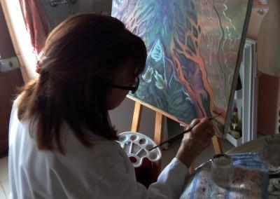 30B_Martine monie Mounie peinture en cours