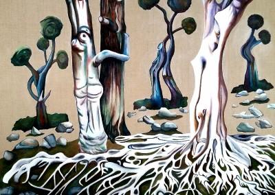 30_martinemoniemounie_peinture acrylique sur toile de lin acru_F40_100x81_Le bal_2021_blog